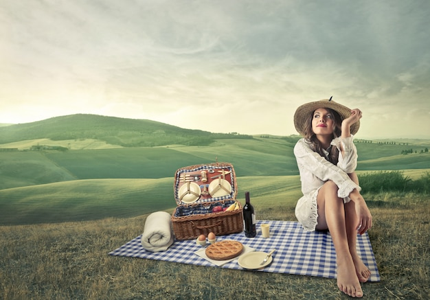 Picnic on the countryside