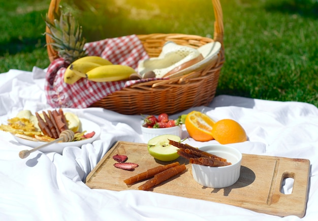 芝生でのピクニック