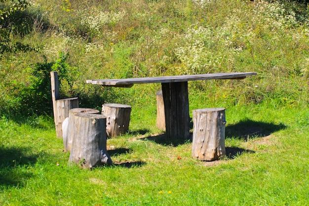 Место для пикника на зеленом лугу