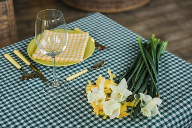 Picnic set. romantic date. family weekend. green cell. flowerpot. a frame for text or photo. covers for bottles. cutlery