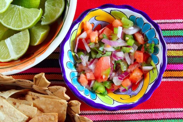 Pico de gallo tomato and chili mexican sauce