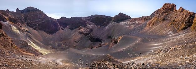 Pico do fogo crater panoramic, cha das caldeiras, cape verde