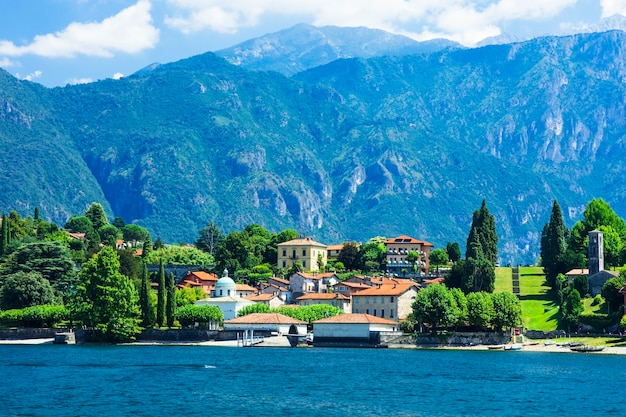 Pictorial scenery of lago di como, italy
