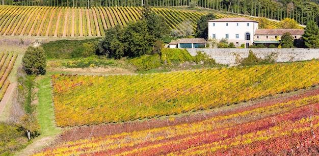 Живописная сельская местность тосканы