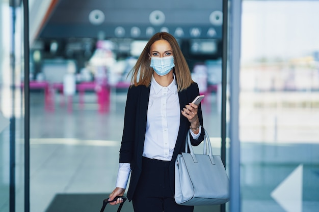 Picture of adult female passenger at the airport