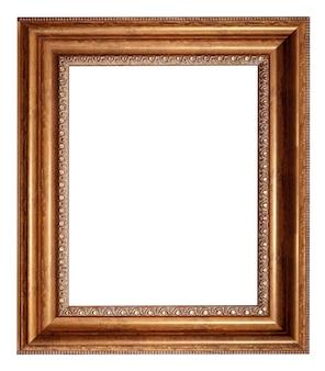 Картина античная рамка, изолированные на белом фоне