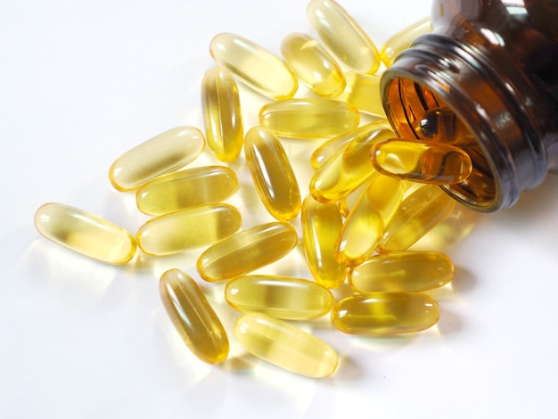 Picture of cod liver oil omega 3.