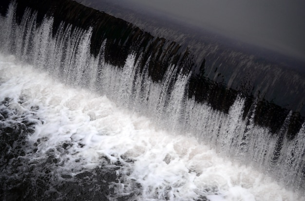 A picture of the flowing water