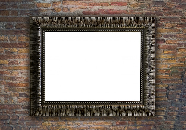Picture frame on brick