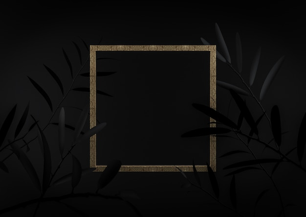 Picture frame centre on black background. you can insert your text or anything in that fra