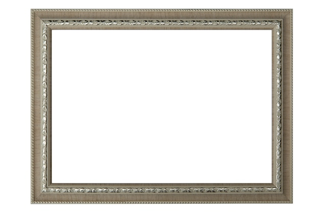 Picture frame or portrait frame isolated on white.clipping path.