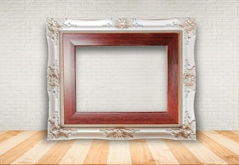 Picture frame put on table