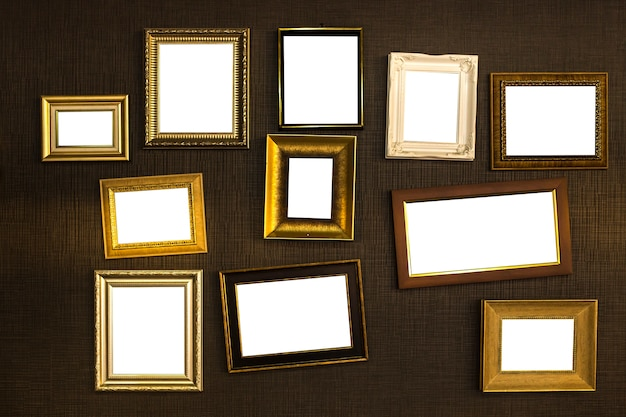 Вектор рамки кадра. фотохудожественная галерея на старинных стенах.