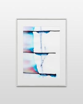 Cornice per foto con arte cromatografica sul muro