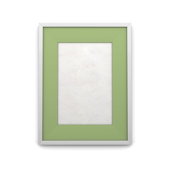 Picture frame with green inset isolated