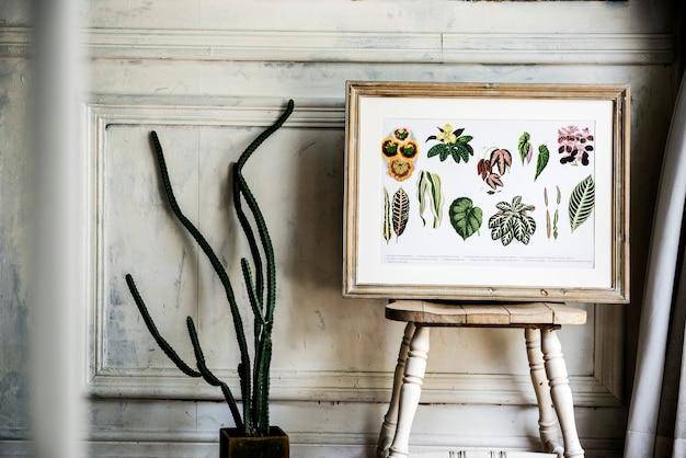 그림 이동 손으로 프레임에 꽃 컬렉션을 그리기