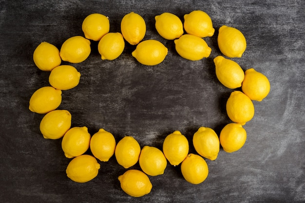 Picture of lemons on grey surface