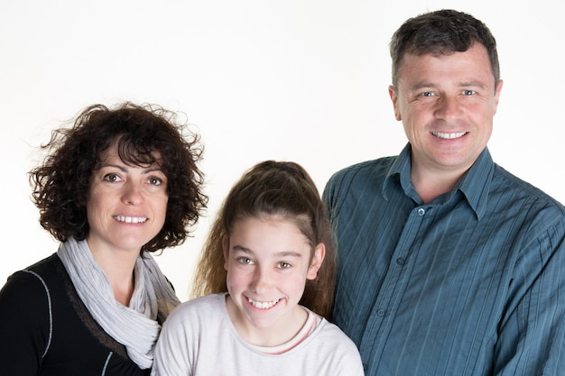 Picture of a lovely family of three parents and daughter