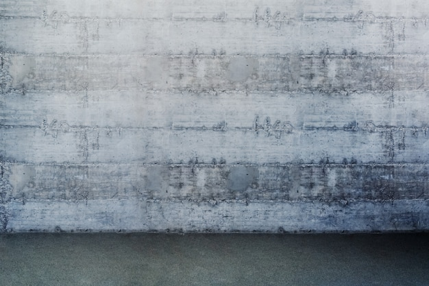 ジムの灰色の壁の写真。