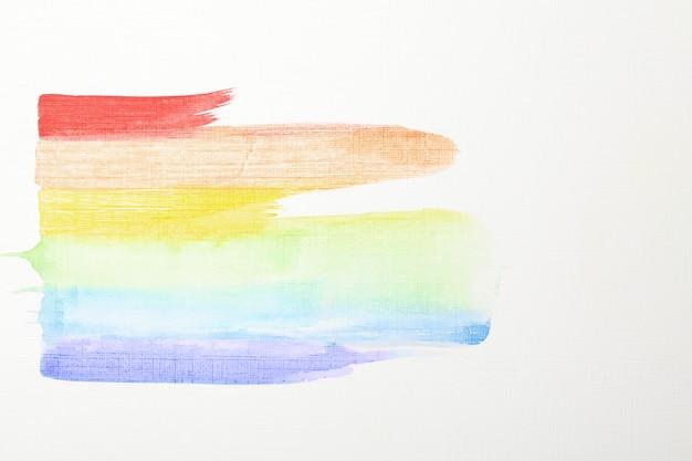 カラースミアで作られたlgbtレインボーの画像