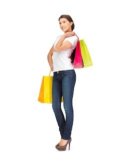 Картина милая женщина с сумками