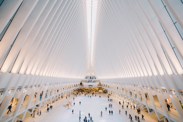 Picture of one the interior of the building in the world trade center of new york