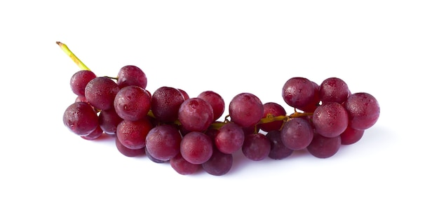 Picture of red grape isolated on the white background