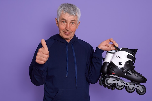 Picture of senior man wearing sporty clothing