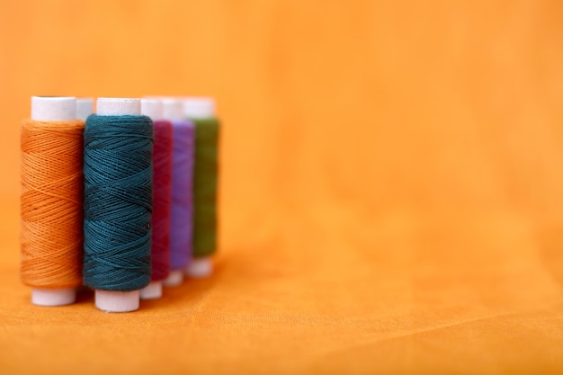 Picture of spool colorful thread.