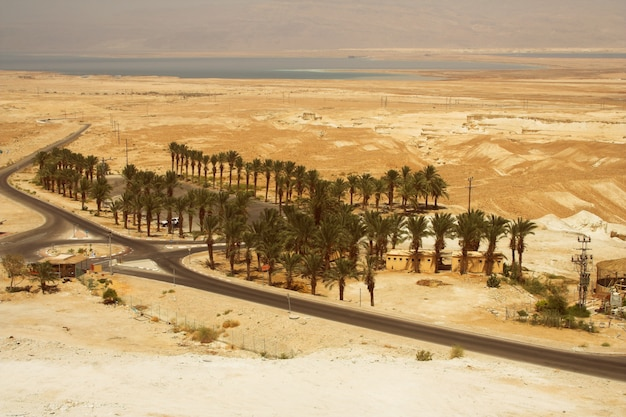 Picturesque ancient mountains about the dead sea
