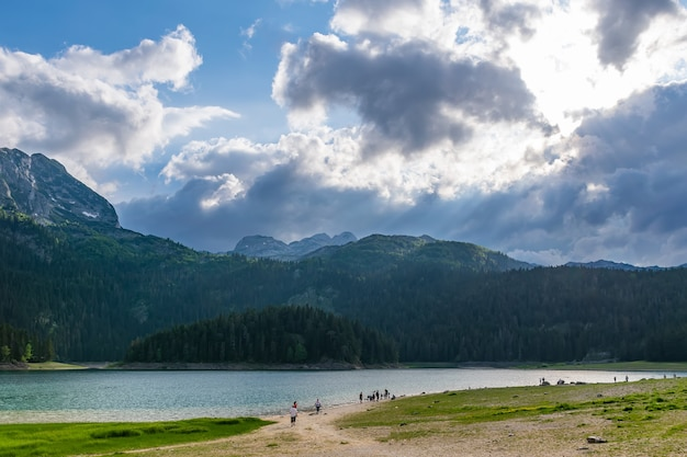 The picturesque black lake is located in the durmitor national park.