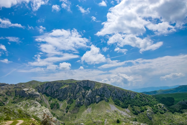 Picturesque high mountains in the north of montenegro in the national park durmitor.