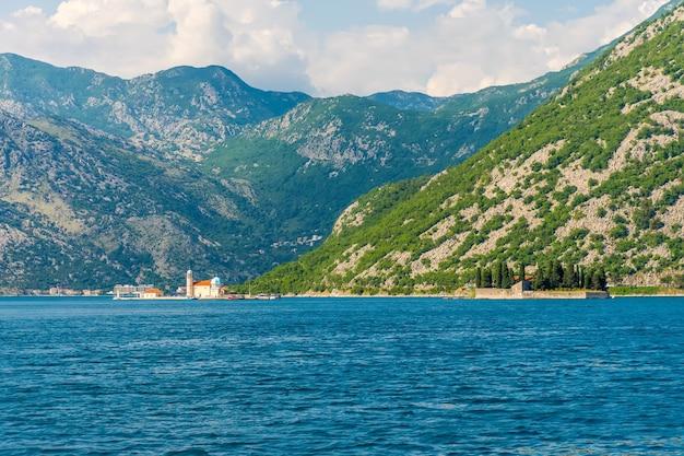 Picturesque island in the boka-kotorsky bay