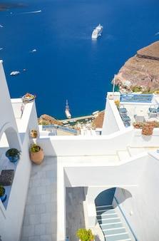The picturesque island of santorini in greece