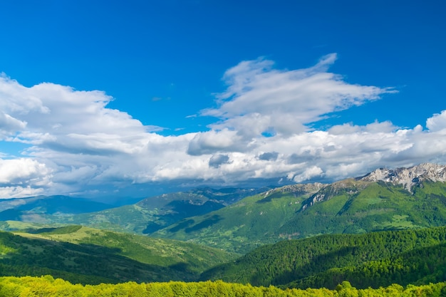 Picturesque komovi mountains are located in the east of montenegro