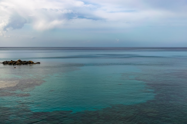 Picturesque landscape on the coast of the island of cyprus.