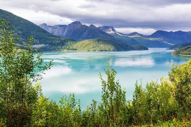 ノルウェー北部の美しい風景