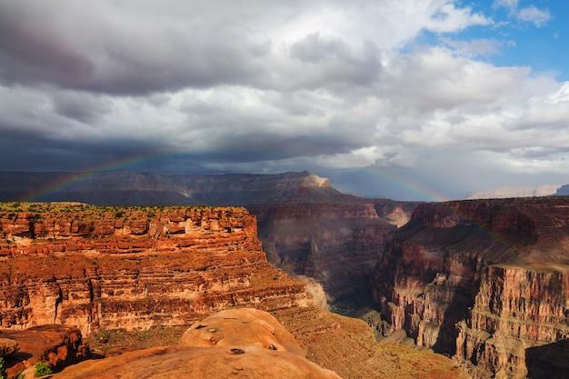 그랜드 캐년, 애리조나, 미국의 그림 같은 풍경.