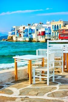 미코노스 섬, 키클라데스, 그리스의 그림 같은 작은 베니스
