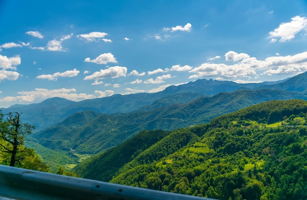 Picturesque mountains are located in the heart of montenegro.