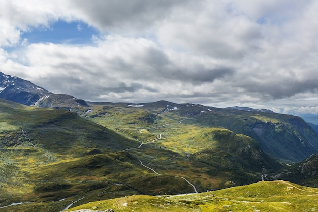 Picturesque mountains landscapes of the norway