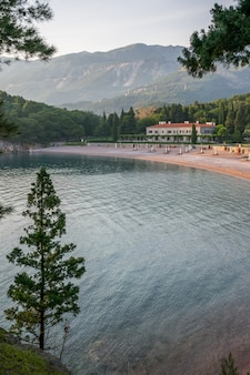 Picturesque royal beach on the adriatic coast.