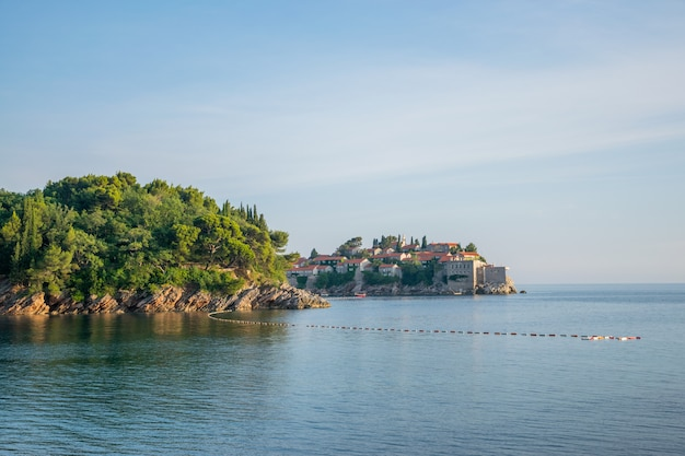 Picturesque small island of st. stephen in the adriatic sea.