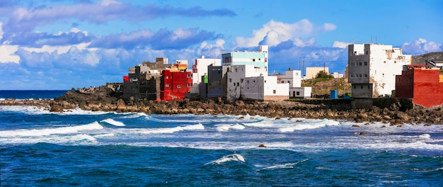 Picturesque small village san andres in northen part of grand canary, canary islands