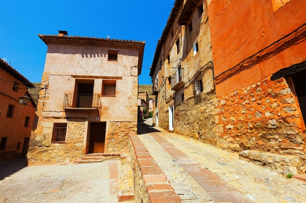 Picturesque street of old spanish town
