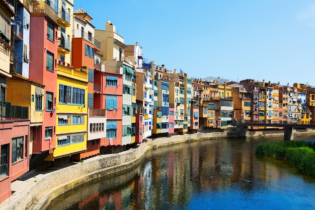 Picturesque view of girona with river
