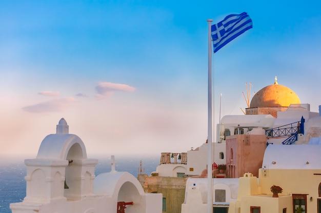 Живописный вид на ию, санторини, греция