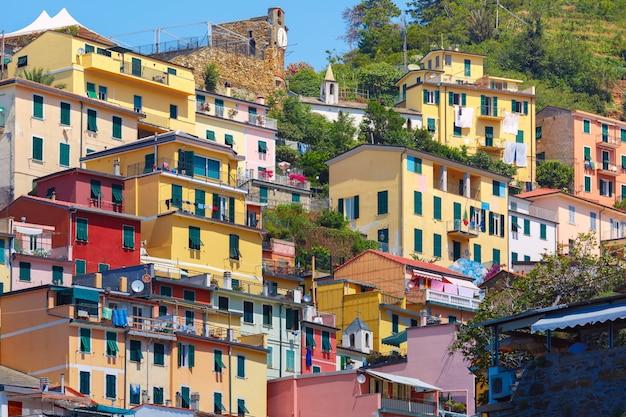 Живописный вид риомаджоре, лигурия, италия