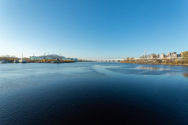 中秋節のサンクトペテルブルク市の美しい景色。
