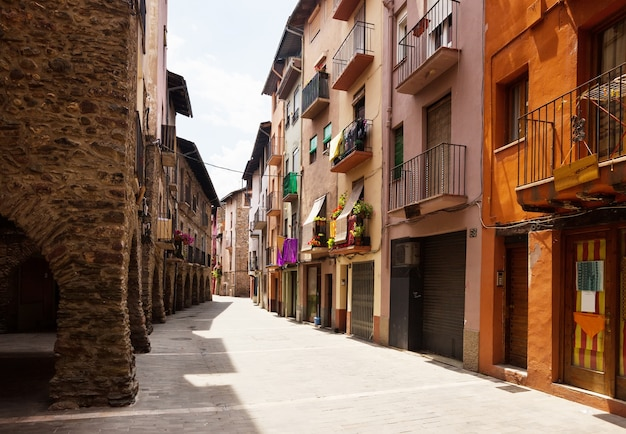 Picturesque view of old catalan town